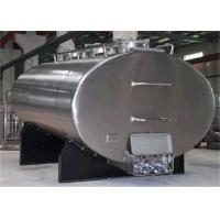 Wholesale Big Horizontal Stainless Steel Tanks , Cooling Bulk Liquid Pasteurized Milk Tank 1000L - 30000L from china suppliers