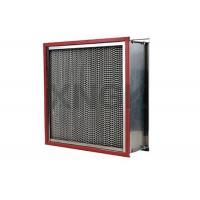 Quality Waterproof High Temperature HEPA Filters 0.3 Micron Aluminum Alloy Frame for sale