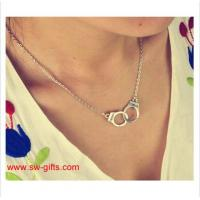 Wholesale New Fashion Jewelry Handcuffs Choker Pendant Necklace Girl lover Valentine's Day Gifts from china suppliers