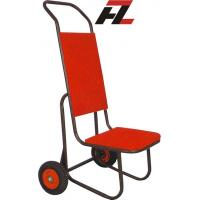 Wholesale Hotel Black Powder Coated Metal Chair Hand Trucks-Banquet Chair Hand Truck from china suppliers