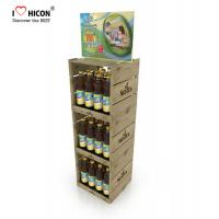 Buy cheap Your Logo Wine Display Stand Metal Drinks Or Wine Retail Bottle Store Display from wholesalers