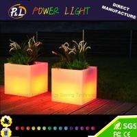 Wholesale Waterproof LED Furniture Illuminated Plastic Garden Flowerpot from china suppliers