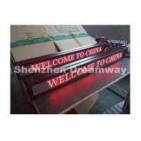 Wholesale 4 mm Pixel Pitch Indoor Single Red LED Moving Message Display 768mm x 64 mm from china suppliers