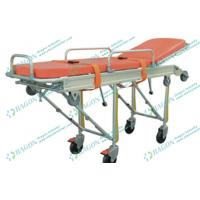 China Aluminum alloy first - aid foldable ambulance stretcher ems with safety belts on sale