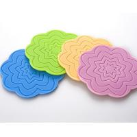 Wholesale Beautiful Flower Shaped Silicone Tea Coffee Cup Coaster/Red Wine Glass Coaster/Cup Mat from china suppliers