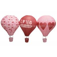 Wholesale Heart Printing Unique Shaped Paper Lantern Hot - air Balloon Customized Lovely from china suppliers