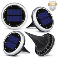 White Solar Powered LED Ground Lights / Solar Lights For Driveway Entrance