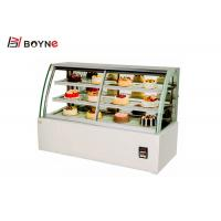 China Table Top Chilled Cake Display Fridge Stainless Steel Air Cooling Demisting Hollow Glass 580W on sale