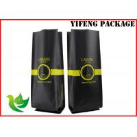 Wholesale Matt Heat Seal Coffee Packaging Bags , Flat Bottom Matte Black Stand Up Pouch from china suppliers