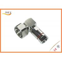 Buy cheap Good quality Foam dielectric feeder cable 7/16 DIN male right-angle connector RF DIN connector for 1/2
