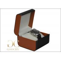 Wholesale PU Leather Watch Storage Case With Pillow , Leather Mens Watch Box , 110 x 110 x 85 mm from china suppliers