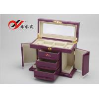 Wholesale Fashionable Wooden Jewellery Box 3 Drawers 4 Layers Wooden Jewelry Case from china suppliers