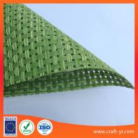 Wholesale Rattan gray color Textilene mesh fabric 4X4 weave PVC coated Polyester fabric from china suppliers
