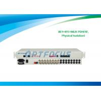 "Wholesale RJ45 8 E1 PDH Multiplexer / Fiber Optical Multiplexer Ethernet Multiplexing Auto - MDIX 19"" Rack from china suppliers"