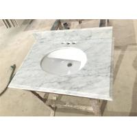 Wholesale Big Vein White Carrera Marble Countertops Eased Edges With Double Sinks from china suppliers