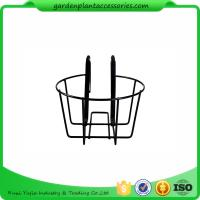 Wholesale Round Metal Wire Balcony Planting Hanging Baskets / Hanging Pots For Plants from china suppliers