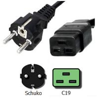 Wholesale Schuko C19 3 Wire Male to Female Power Cord 16A 250V Custom Length from china suppliers