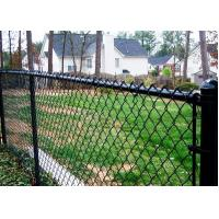 Buy cheap Green PVC 4 Inch Chain Link Wire Mesh , Privacy Chain Link Sports Fence from wholesalers
