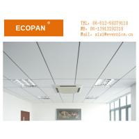 Wholesale 0.6*1.2m White Fiberglass Suspended Ceiling Board Seldom Absorb Dust / Vacuum For Hotels from china suppliers