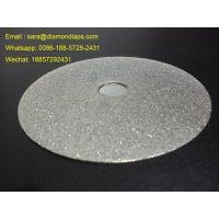 "Wholesale 6"" Electroplated Diamond Flat Lap Disc Grit 240 1mm thickness for polishing stones from china suppliers"