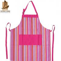 Wholesale Pretty Blue/Pink Striped Cotton Kitchen Apron Personalised Cooking Aprons from china suppliers
