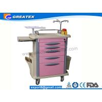 Wholesale Plastic Hospital Emergency Cart , Luxurious ABS medical storage trolley from china suppliers