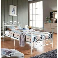 Wholesale White Wire Metal Frame Bed Twin Size Footboard Bedroom Furniture For Aldult from china suppliers