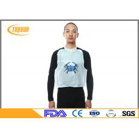 Wholesale Food Grade Disposable Lobster Bib Plastic Bibs With Printing , Adult Clothing Protectors from china suppliers