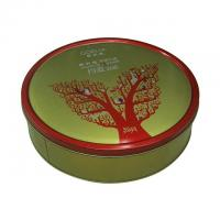 Wholesale Goelia Promotional Metal Tins With Lids Clinder Shape Green Color 0.23 mm Thickness from china suppliers