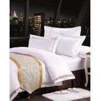Wholesale 100% Cotton Polyester Textile Luxury Hotel Bed Linen / white bed linen from china suppliers