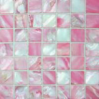Wholesale 25x25mm Pink River Shell Mosaic Tile, Polished Mosaic Shell Wall Tile from china suppliers