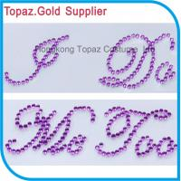 Wholesale Rhinestone sticker alphabet sticker I DO/Me Too for wedding shoes from china suppliers