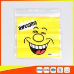 Custom resealable plastic bags , Self-Adhesive Header Plastic Ziplock Bags