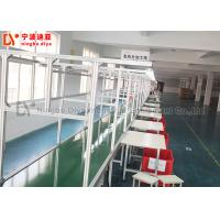 Customized Assembly Line Conveyor Aluminium Tube Assembly Line Independent Work Table