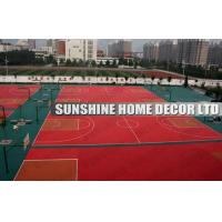 Wholesale Waterproof Plastic Basketball Court Floor , Multi Purpose Interlocking Sports Flooring from china suppliers