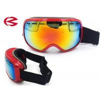 China Red TPU Frame Revo Coating Snownboard Ski Goggles Anti Fog Anti Scratch on sale