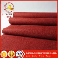 Wholesale 2017 New Synthetic types of red flocked fabric micro suede for sofa from china suppliers