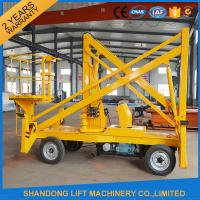 Wholesale 10m Diesel Engine Aerial Trailer Mounted Boom Lift Hire , Towable Articulating Boom Lift from china suppliers