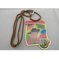Brass / Copper / Stainless Steel / Aluminum Narrenzunft Murg Carnival Medal with Two Color Cord