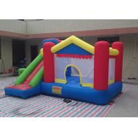 Wholesale 6L X 4W X 3H Mini Commercial Bounce House Combos , Inflatable Bouncers With Tunnel from china suppliers