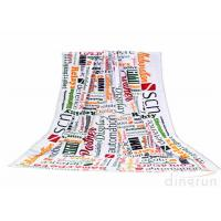 Wholesale Plain Style Custom Printed Beach Towels Monogrammed For Travel from china suppliers