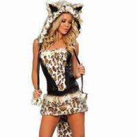 Wholesale Frisky lingerie costumes, includes top, skirt, hood, leg warmer and gloves from china suppliers
