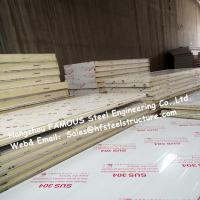 Wholesale Sliding Door / Swing Door PU Cold Room Panel Thickness 100mm For Walk In Freezer from china suppliers