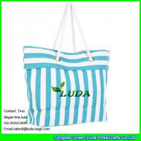 Wholesale LUDA striped women paper straw handbags from china suppliers