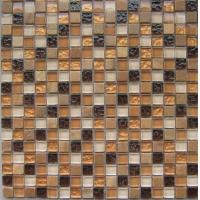 Wholesale Color Mixed Stone Glass Mosaic Tile, Bathroom Wall Mosaic Tiles 300x300mm from china suppliers