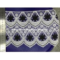 Wholesale 100 Yard Decorative Scalloped Lace Trim Black Mixed White Single Straight from china suppliers