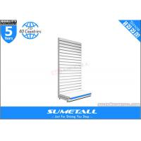 Wholesale Luxury Floor Standing Shop Display Shelf H Slot Hole With Slatwall Back Panel from china suppliers