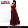 Buy cheap Elegant Adjustable Strap Lace Bodice Burgundy Maxi Chiffon Evening Dress from wholesalers