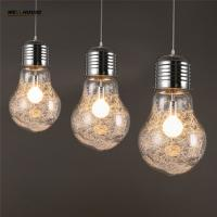 Wholesale Big Bulb Pendant Light Modern Creative Restaurant Bar Glass Pendant Light Aisle Corridor Lamp Dia 15cm,22cm,30cm from china suppliers
