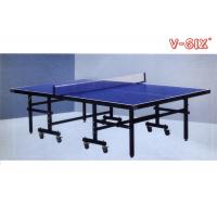 Wholesale Single Folding Ping Pong Table Moveable T Form Leg With Protective Steel Corners from china suppliers